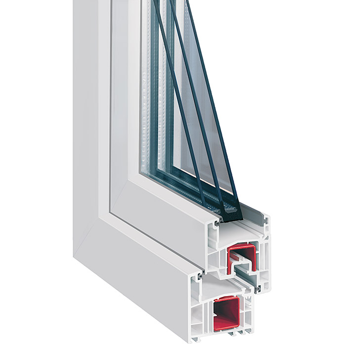 Solid Elements Kunststofffenster Classic Line (B x H: 80 x 60 cm, DIN Anschlag: Links)