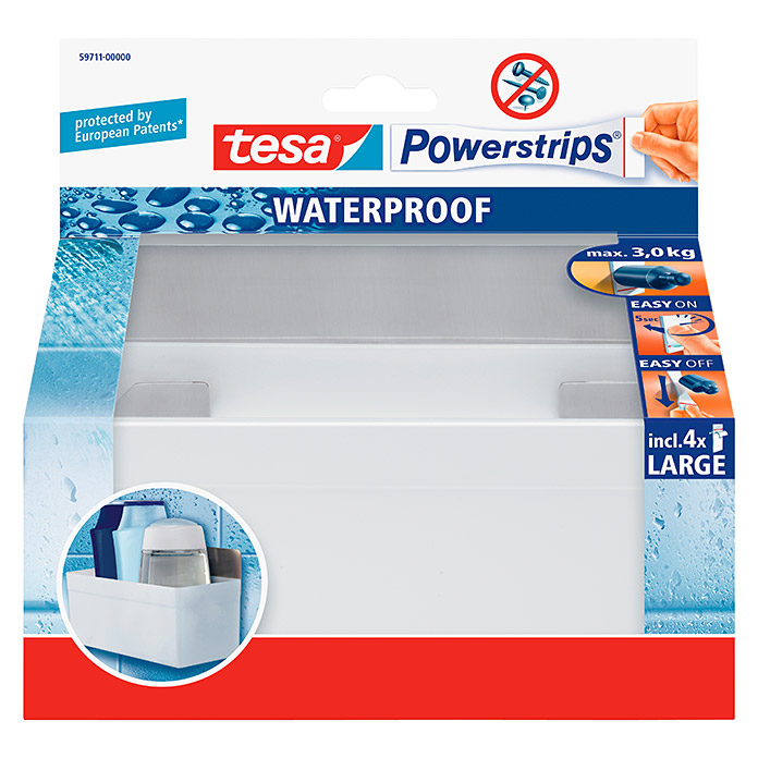 TESA POWERSTRIPS WATERPROOF BORD ZOOM METALL /