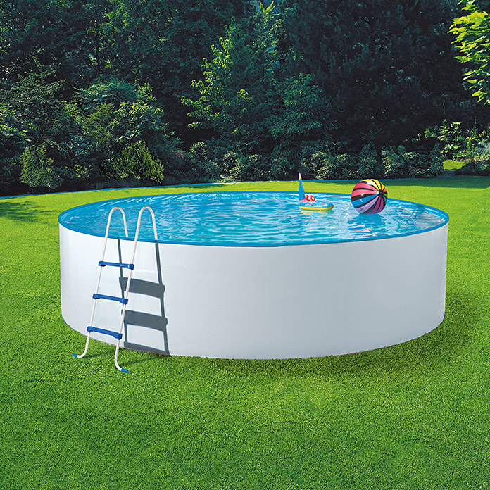 Mypool poolset splash durchmesser 360 cm h he 110 cm for Garten pool 2 5m