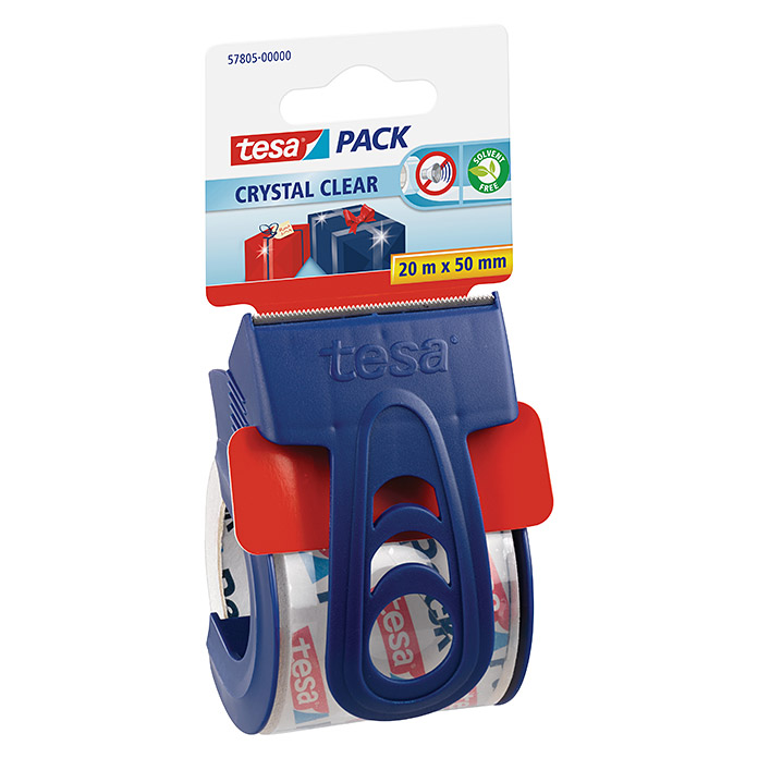 CRYSTAL   CLEAR     20 m 50 mmABROLLER  TESAPACK