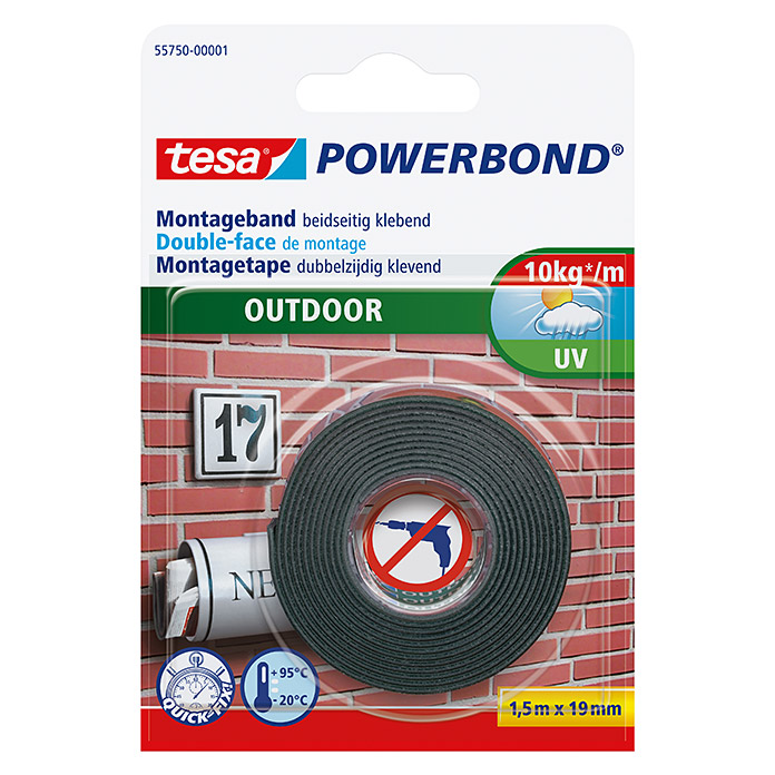 POWERBOND OUTDOOR   MONTAGEB. 1,5 m:19mmTESA