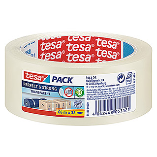 Tesa Pack Paketklebeband Perfect & Strong (Transparent, 66 m x 38 mm)