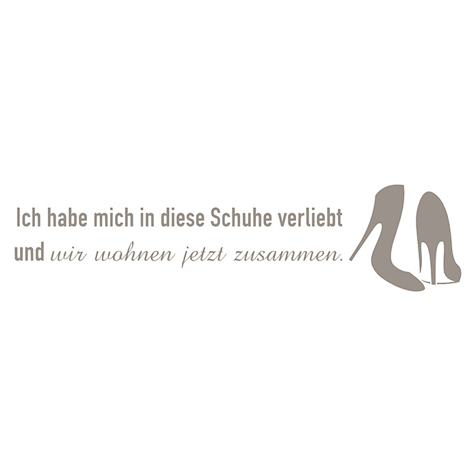 Wandspruch  (Taupe)