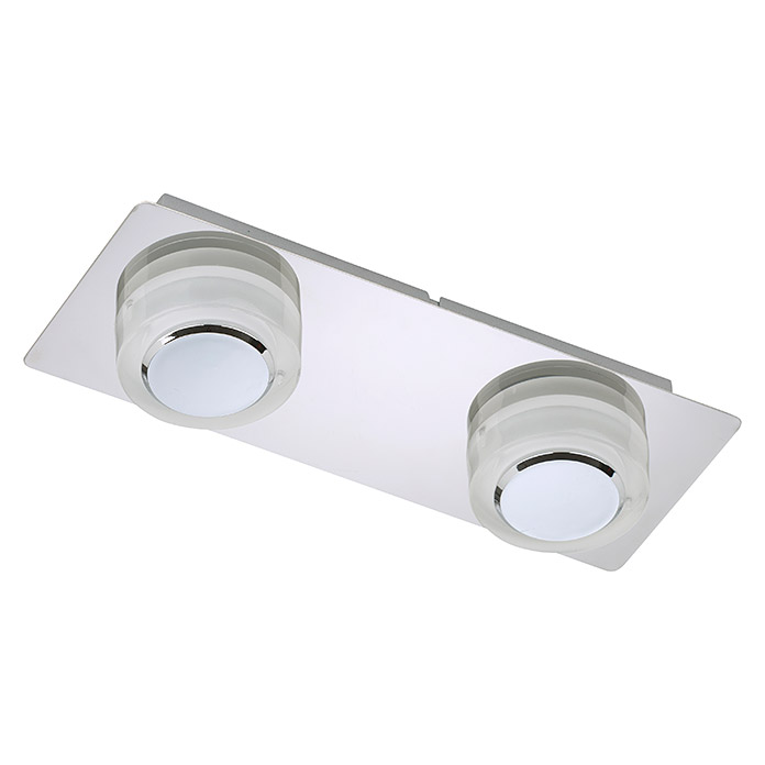 LED DECKENL. INKL. MODUL 2X5W 400LM CHROM IP44