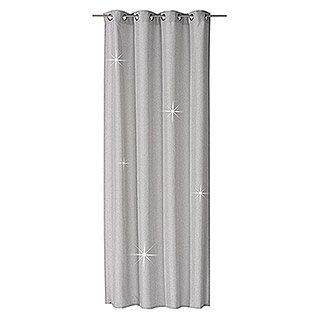 FREUNDIN HOME COLLECTION Vintage Ösenschal (140 x 255 cm, 100 % Polyester, Grau, Vintage)