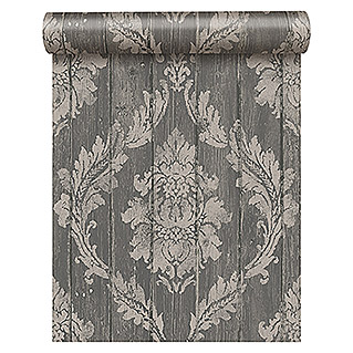 FREUNDIN HOME COLLECTION Vintage Vliestapete (Grau, Ornament, 10,05 x 0,53 m)