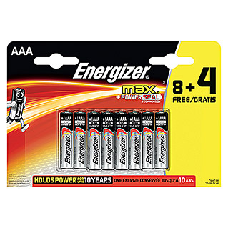 Energizer Pila max (Micro AAA, 12 uds.)