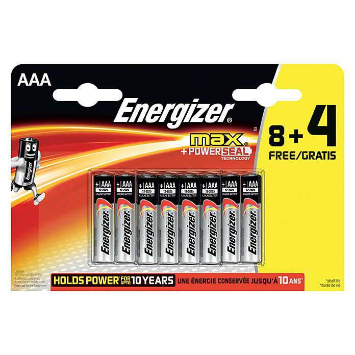 Energizer Batterie max (Micro AAA, 12 Stk.)