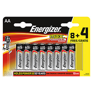 Energizer Batterie max (Mignon AA, 12 Stk.)