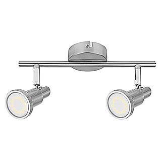 LED-Deckenstrahler (2 x 3 W, Länge: 275 mm, Warmweiß, Nickel matt)
