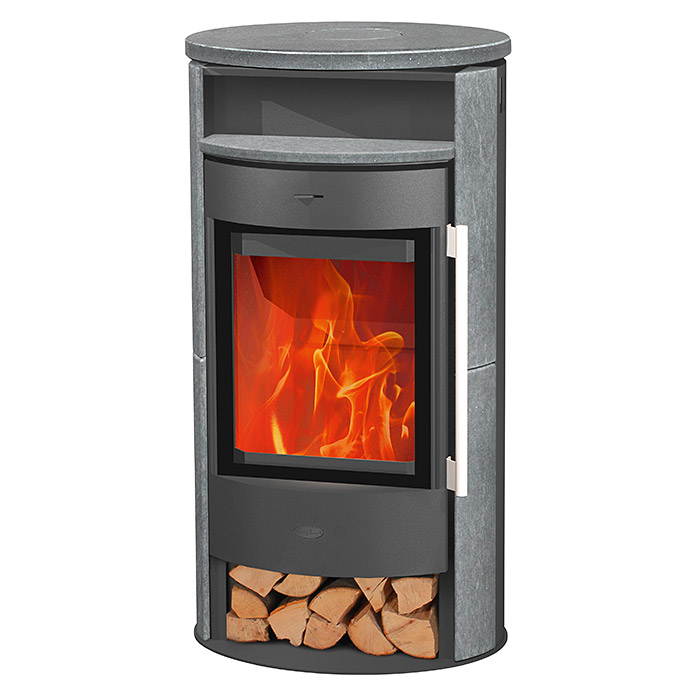 fireplace kaminofen durango 6 kw raumheizverm gen 108 m verkleidung speckstein gussgrau. Black Bedroom Furniture Sets. Home Design Ideas