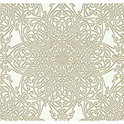 Guido Maria Kretschmer Fashion for walls Vliestapete (Goldbeige, Ornament, 10,05 x 0,53 m)